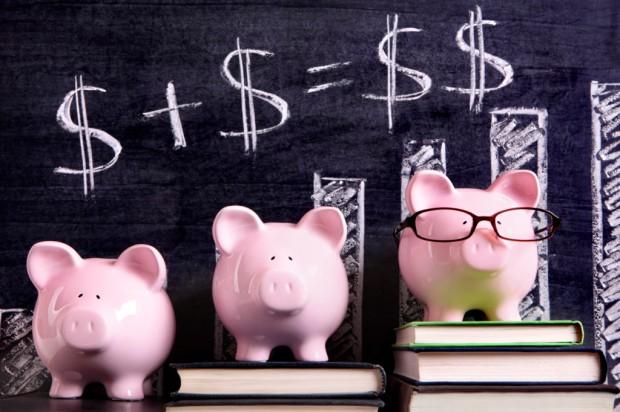 Piggy Banks with savings formula